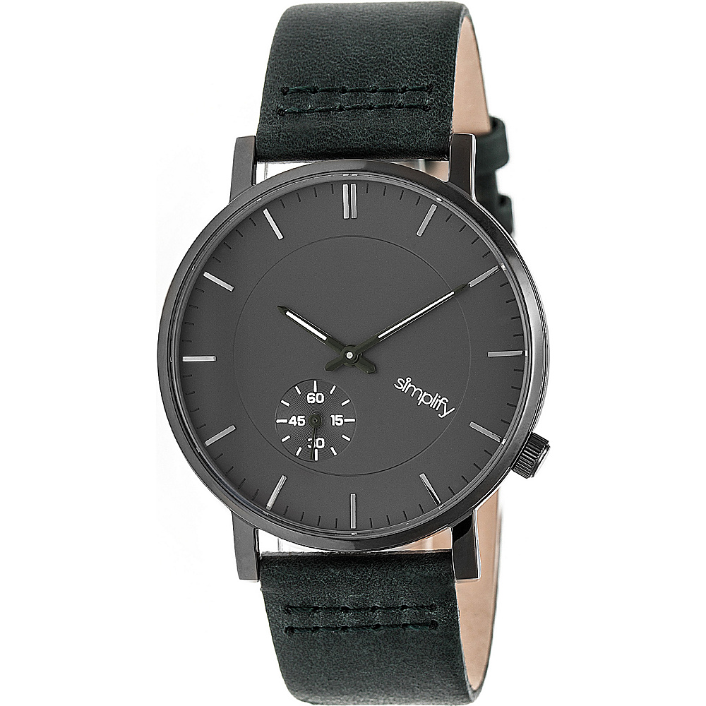 Simplify The 3600 Unisex Watch Forest Green Gunmetal Charcoal Simplify Watches