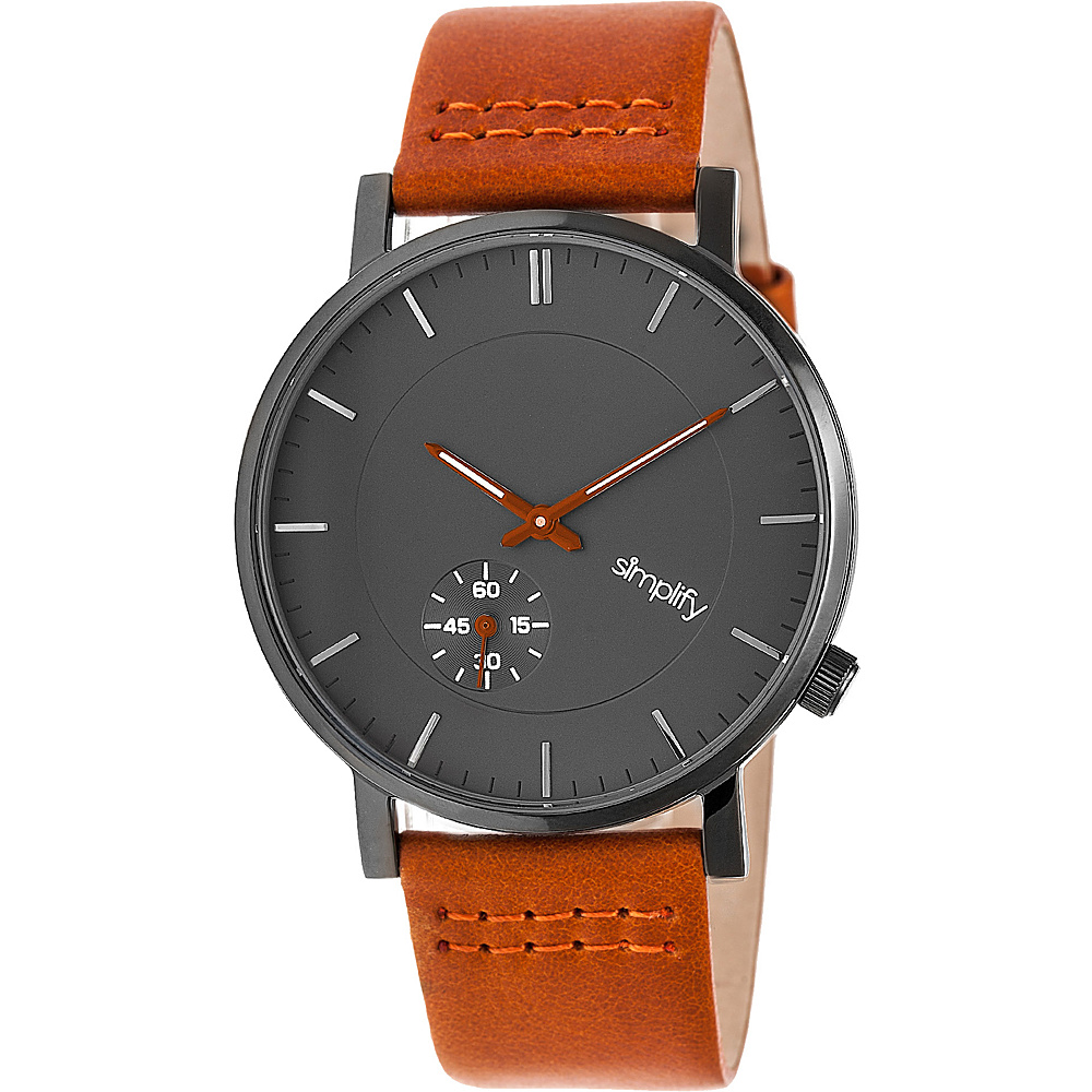 Simplify The 3600 Unisex Watch Orange Gunmetal Charcoal Simplify Watches
