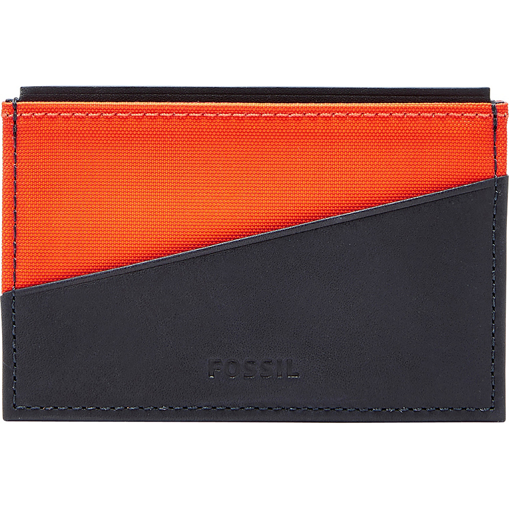 Fossil Owen Card Case Navy - Fossil Mens Wallets - Work Bags & Briefcases, Men's Wallets
