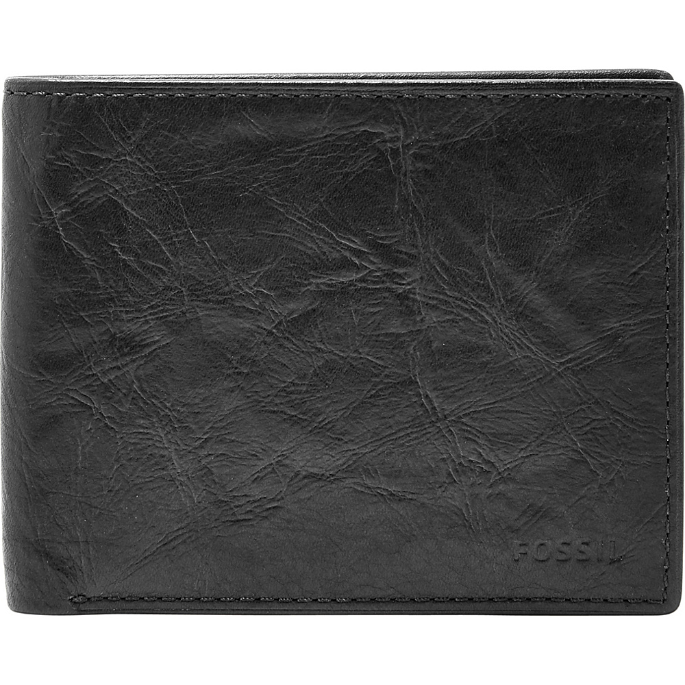 Fossil Ingram RFID Bifold Black - Fossil Mens Wallets - Work Bags & Briefcases, Men's Wallets