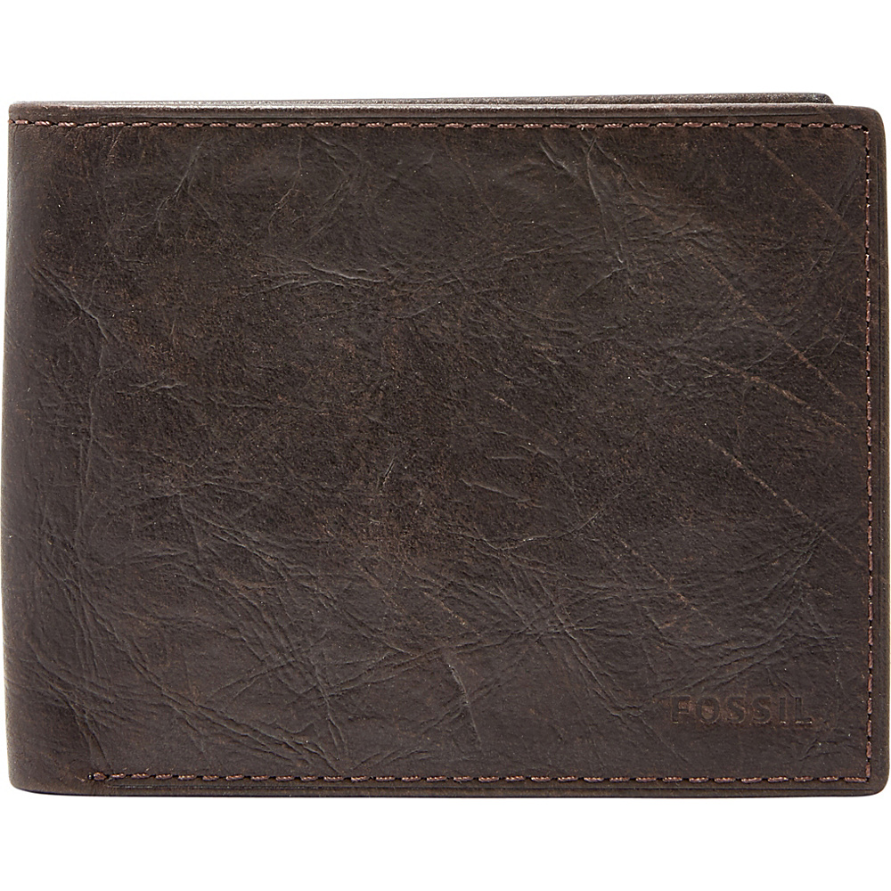 Fossil Ingram RFID Bifold Brown - Fossil Mens Wallets - Work Bags & Briefcases, Men's Wallets