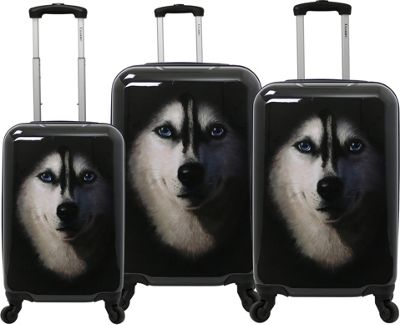 Chariot Husky 3 Pc Hardside Spinner Set Husky - Chariot Luggage Sets