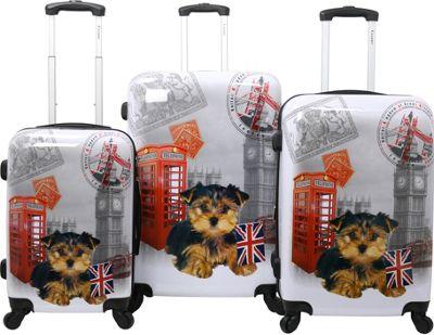 Chariot UK 3 Pc Hardside Spinner Set UK - Chariot Luggage Sets
