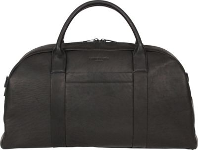 Kenneth Cole New York Business Colombian Leather 20 inch Duffel Black - Kenneth Cole New York Business Travel Duffels