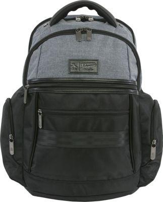 Original Penguin Luggage Classics 6 Pocket Laptop/Tablet Backpack Black/Crosshatch - Original Penguin Luggage Business & Laptop Backpacks