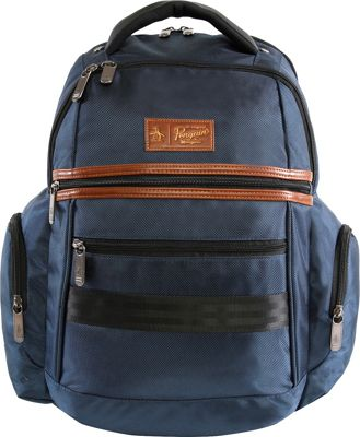 Original Penguin Luggage Original Penguin Luggage Classics 6 Pocket Laptop/Tablet Backpack Navy - Original Penguin Luggage Business & Laptop Backpacks