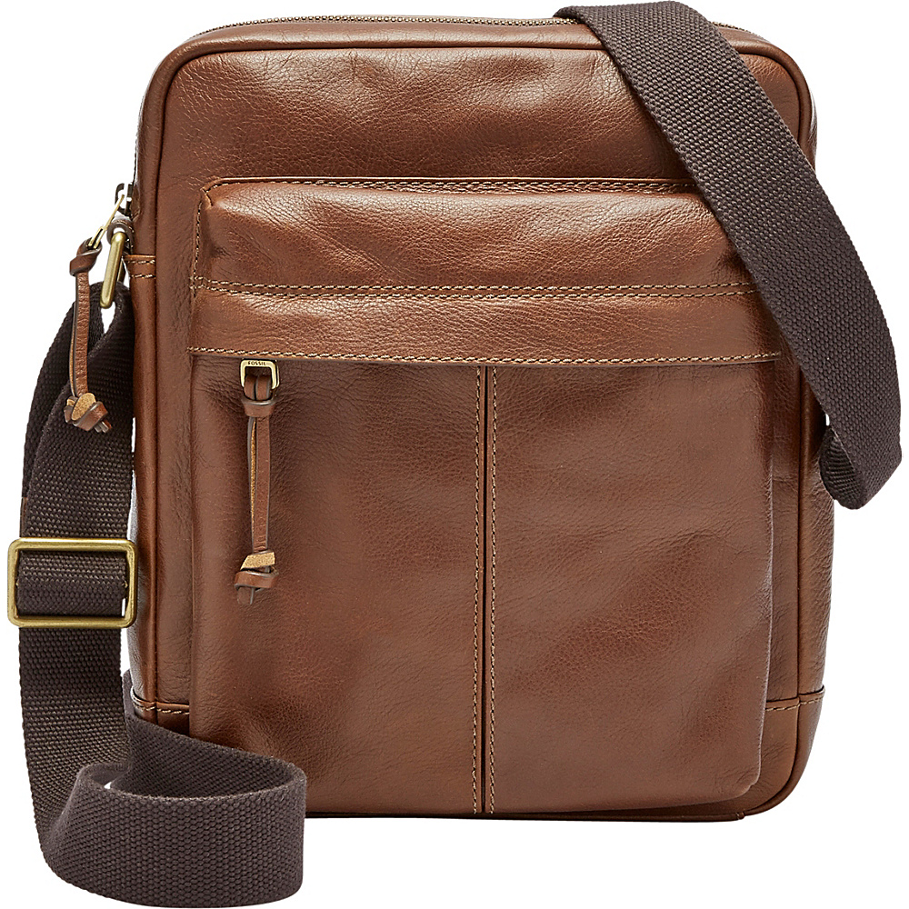 Fossil Defender NS City Bag Brown - Fossil Messenger Bags - Work Bags & Briefcases, Messenger Bags