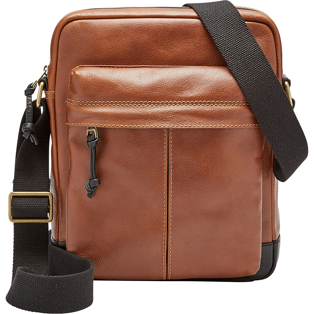 Fossil Defender NS City Bag Cognac - Fossil Messenger Bags - Work Bags & Briefcases, Messenger Bags