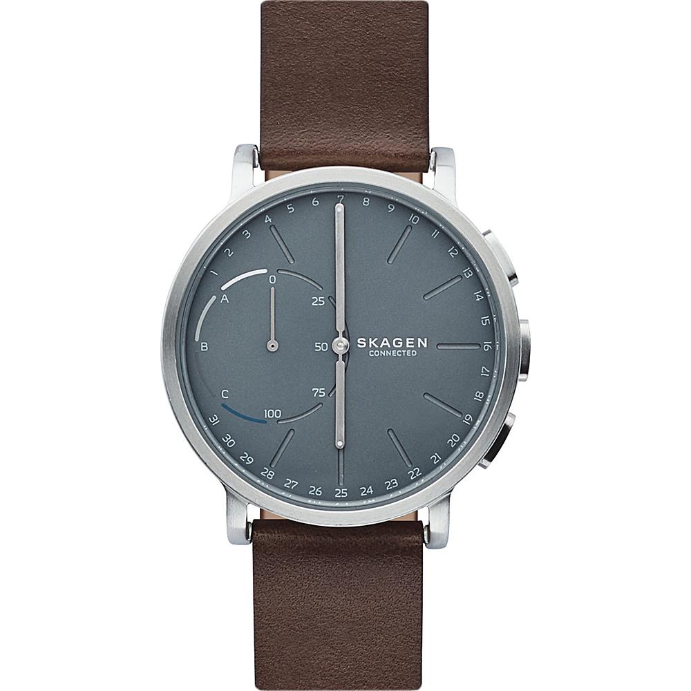 Skagen Hagen Connected Leather Hybrid Smartwatch Brown - Skagen Wearable Technology