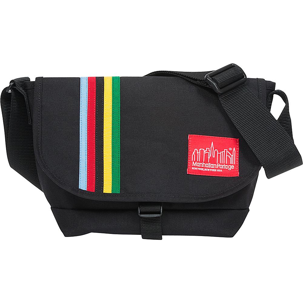 Manhattan Portage Rainbow Stripes Nylon Messenger Bag Jr Black - Manhattan Portage Messenger Bags - Work Bags & Briefcases, Messenger Bags