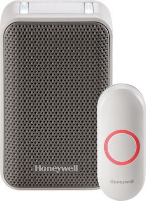Honeywell Portable Wireless Doorbell with Strobe Light & Push Button White - Honeywell Smart Home Automation