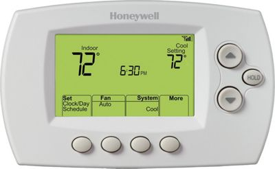 Honeywell Honeywell Wi-Fi 7 Day Programmable Button Control Thermostat White - Honeywell Smart Home Automation