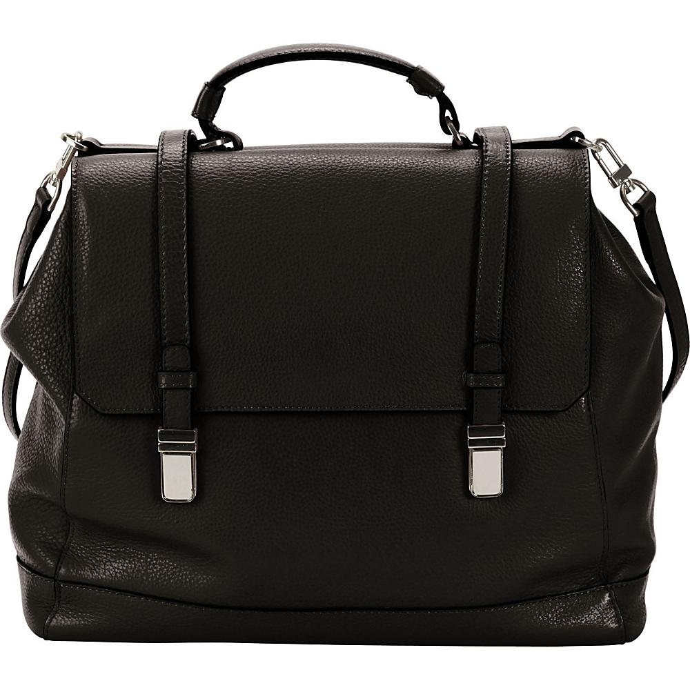 Hadaki Lady Urban Large Messenger Black - Hadaki Leather Handbags - Handbags, Leather Handbags