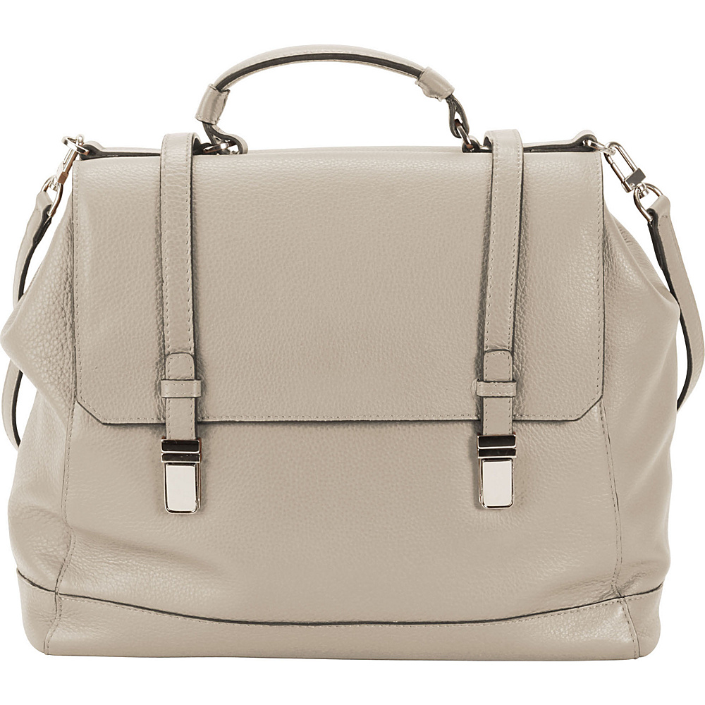 Hadaki Lady Urban Large Messenger Pearl Gray - Hadaki Leather Handbags - Handbags, Leather Handbags