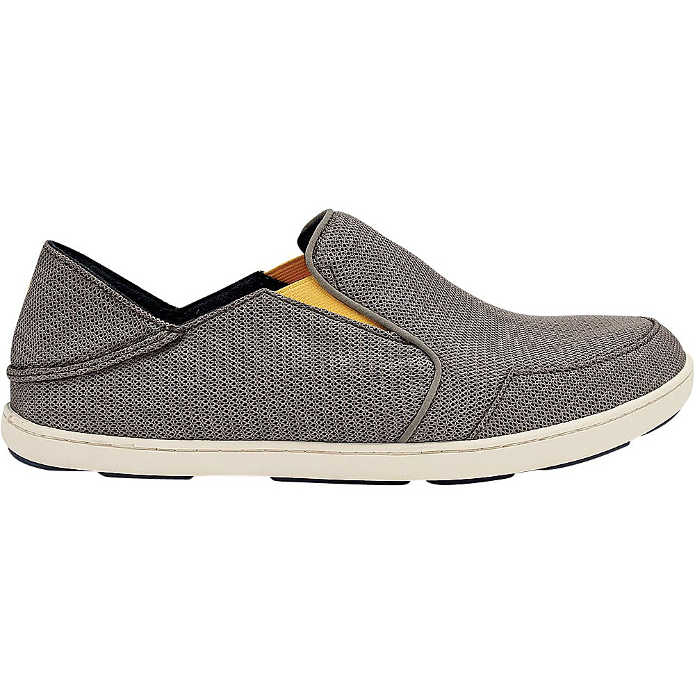 OluKai Mens Nohea Mesh Slip-On 7 - Rock/Canoe - OluKai Mens Footwear - Apparel & Footwear, Men's Footwear