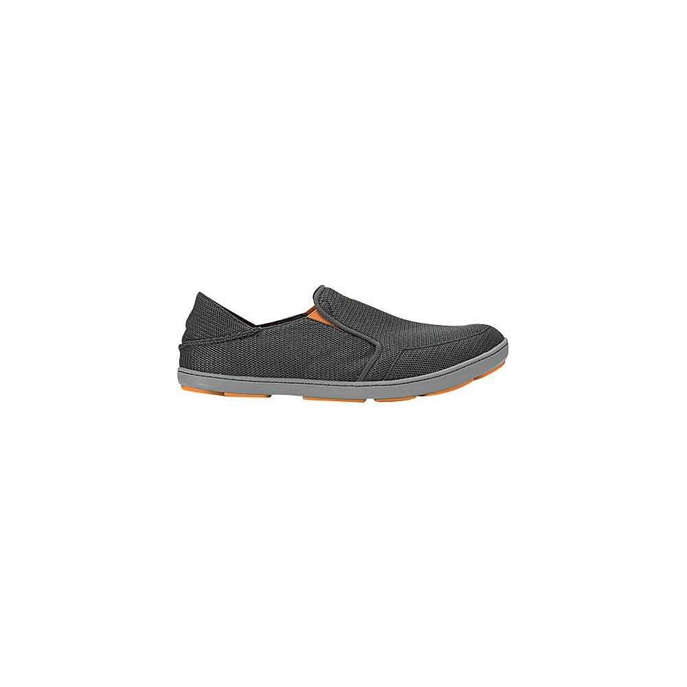 OluKai Mens Nohea Mesh Slip-On 8.5 - Dark Shadow/Dark Shadow - OluKai Mens Footwear - Apparel & Footwear, Men's Footwear