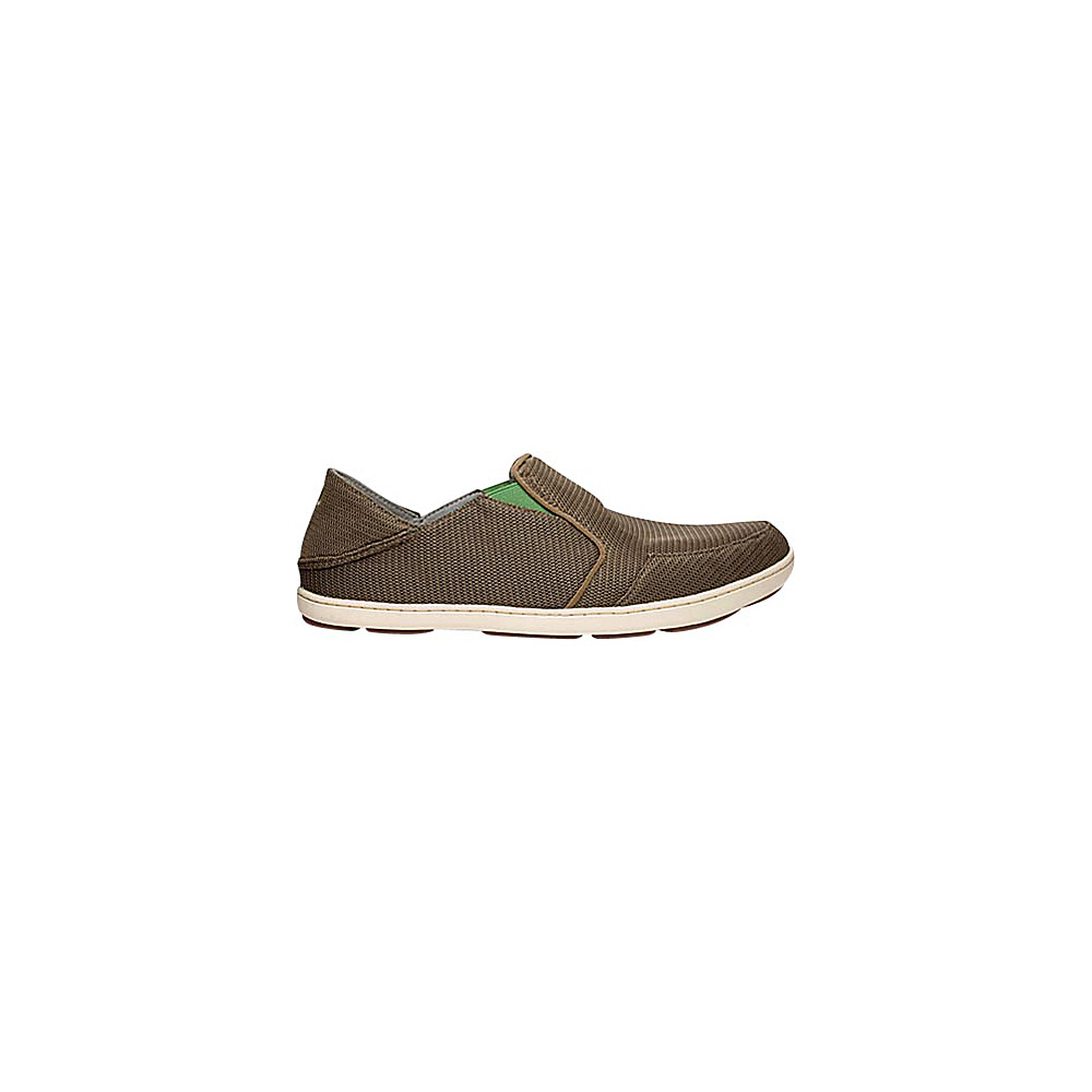 OluKai Mens Nohea Mesh Slip-On 7 - Mustang/Lime Peel - OluKai Mens Footwear - Apparel & Footwear, Men's Footwear