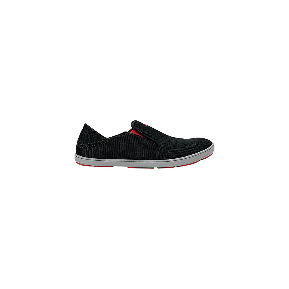 OluKai Mens Nohea Mesh Slip-On 11 - Black/Black - OluKai Mens Footwear - Apparel & Footwear, Men's Footwear