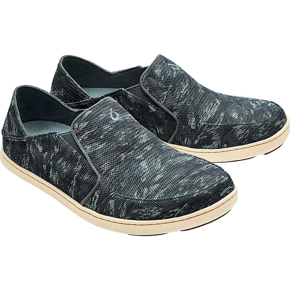 OluKai Mens Nohea Mesh Slip-On 7 - Charcoal/Dive Camo - OluKai Mens Footwear - Apparel & Footwear, Men's Footwear