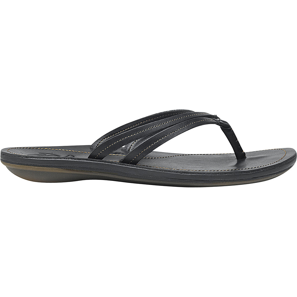 OluKai Womens UI Sandal 8 - Black/Black - OluKai Womens Footwear - Apparel & Footwear, Women's Footwear