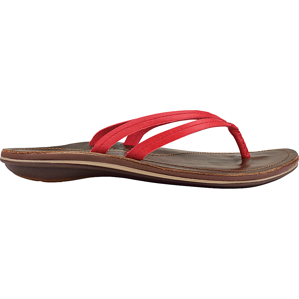 OluKai Womens UI Sandal 5 - Ohia Red/Dark Java - OluKai Womens Footwear - Apparel & Footwear, Women's Footwear