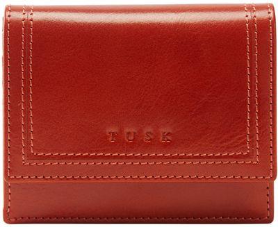 TUSK LTD Gusseted French Wallet Pumpkin - TUSK LTD Designer Handbags