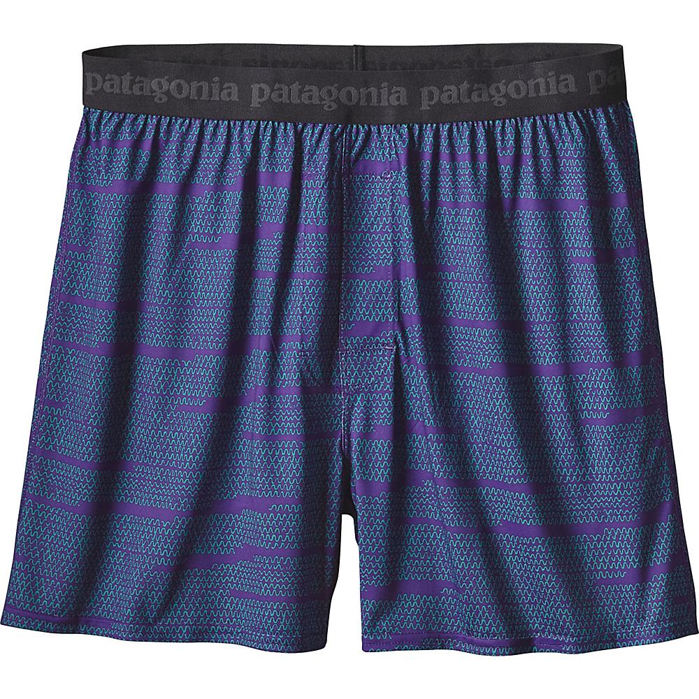 Patagonia Mens Capilene Daily Boxers S - Wavelength: Purple - Patagonia Mens Apparel - Apparel & Footwear, Men's Apparel