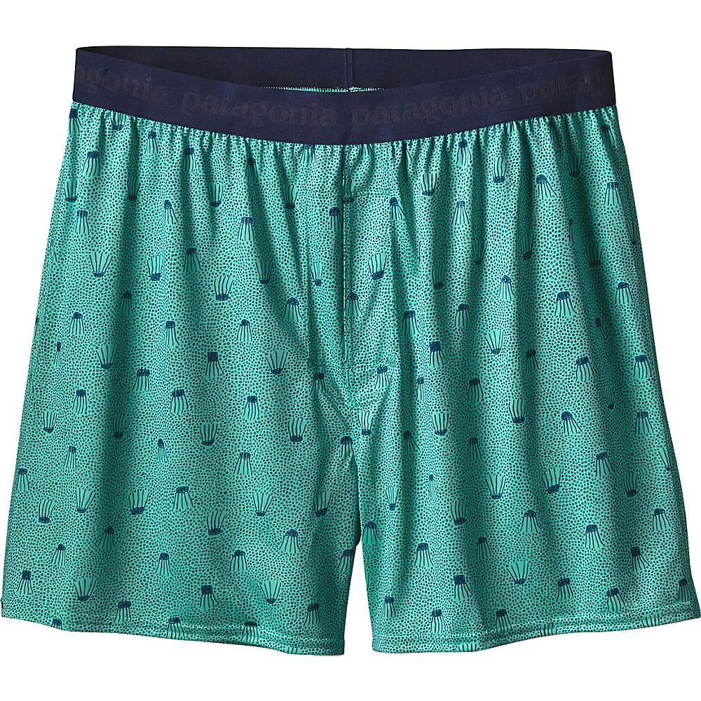 Patagonia Mens Capilene Daily Boxers L - Jellyfish: Galah Green - Patagonia Mens Apparel - Apparel & Footwear, Men's Apparel