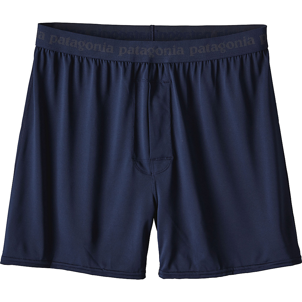 Patagonia Mens Capilene Daily Boxers S - Navy Blue - Patagonia Mens Apparel - Apparel & Footwear, Men's Apparel