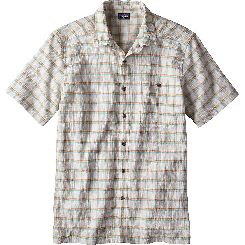 Patagonia Mens A/C Shirt L - Adrift: Birch White - Patagonia Mens Apparel - Apparel & Footwear, Men's Apparel
