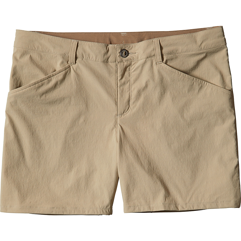 Patagonia Womens Quandary Shorts - 5 in. 0 - El Cap Khaki - Patagonia Womens Apparel - Apparel & Footwear, Women's Apparel