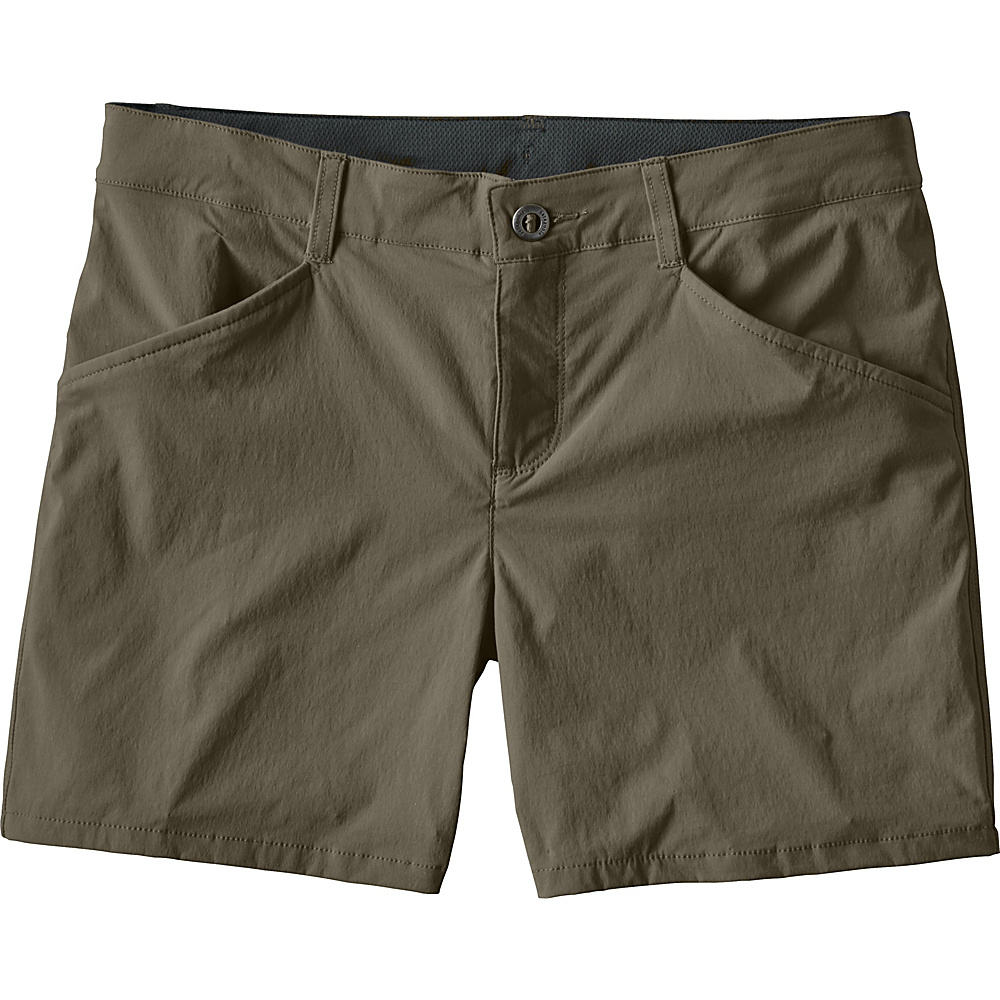 Patagonia Womens Quandary Shorts - 5 in. 14 - Industrial Green - Patagonia Womens Apparel - Apparel & Footwear, Women's Apparel