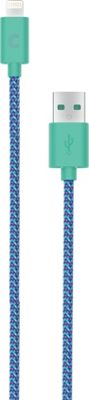 Candywirez 3 Ft Nylon Braided Lightning Cables Aqua - Candywirez Electronic Accessories