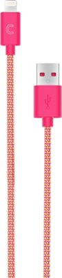 Candywirez 3 Ft Nylon Braided Lightning Cables Orange/Pink - Candywirez Electronic Accessories