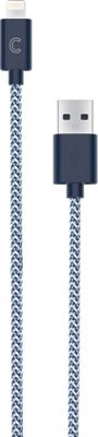 Candywirez 3 Ft Nylon Braided Lightning Cables Navy/White - Candywirez Electronic Accessories