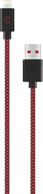 Candywirez 3 Ft Nylon Braided Lightning Cables Black/Red - Candywirez Electronic Accessories