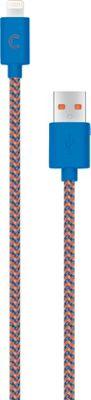Candywirez 3 Ft Nylon Braided Lightning Cables Navy/Orange - Candywirez Electronic Accessories