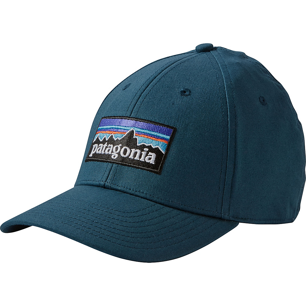 Patagonia P-6 Logo Stretch Fit Hat L/XL - Bay Blue - Patagonia Hats/Gloves/Scarves - Fashion Accessories, Hats/Gloves/Scarves