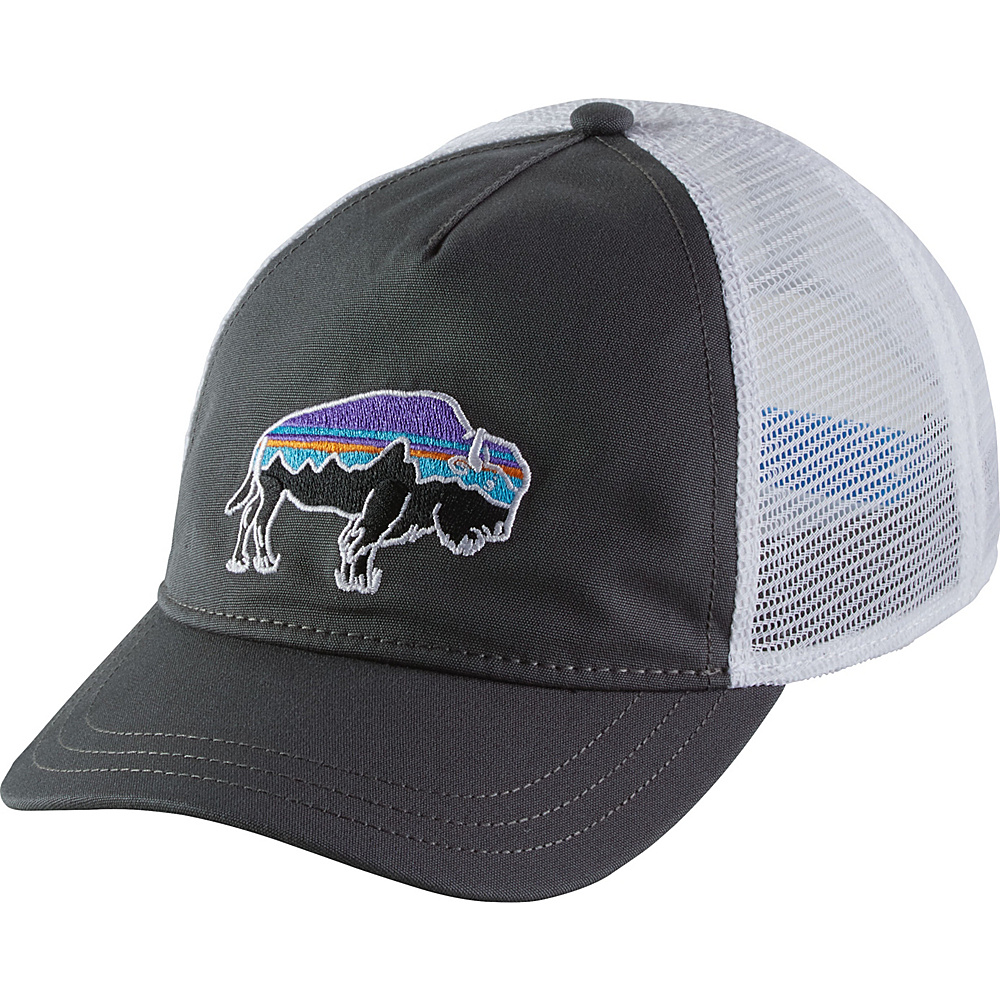 Patagonia Ws Fitz Roy Bison Layback Trucker Hat One Size - Forge Grey - Patagonia Hats/Gloves/Scarves - Fashion Accessories, Hats/Gloves/Scarves
