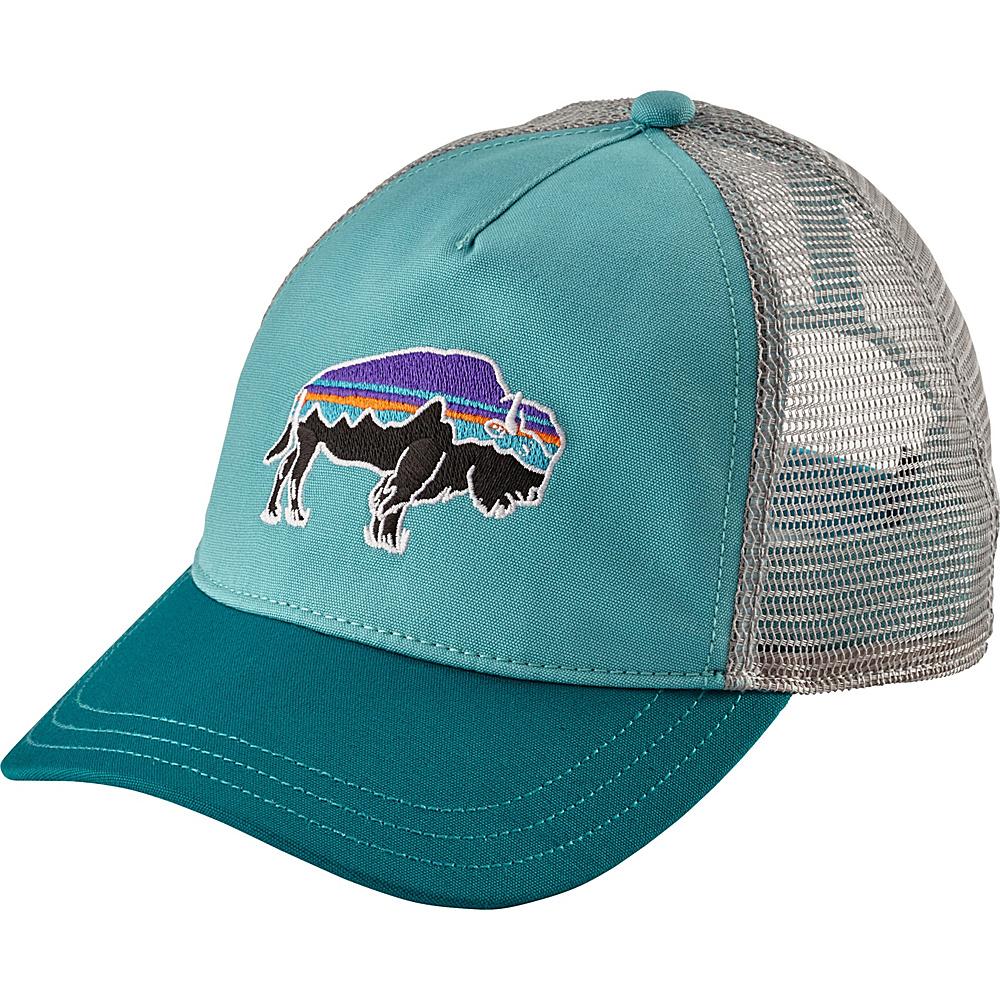 91b06970658 Patagonia Ws Fitz Roy Bison Layback Trucker Hat One Size - Crevasse Blue -  Patagonia Hats