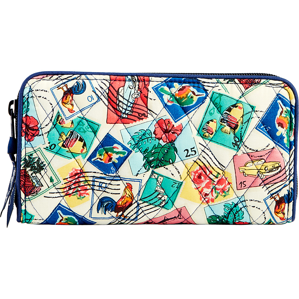 Vera Bradley RFID Georgia Wallet-Retired Prints Cuban Stamps - Vera Bradley Womens Wallets - Women's SLG, Women's Wallets