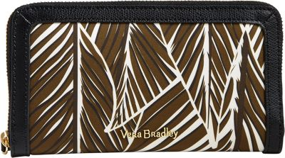 Vera Bradley RFID Georgia Wallet-Retired Prints Banana Leaves Brown - Vera Bradley Women's Wallets