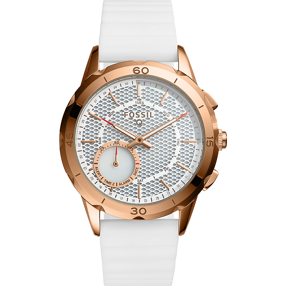 Fossil Q Modern Pursuit Silicone Hybrid Smartwatch White - Fossil Wearable Technology - Technology, Wearable Technology