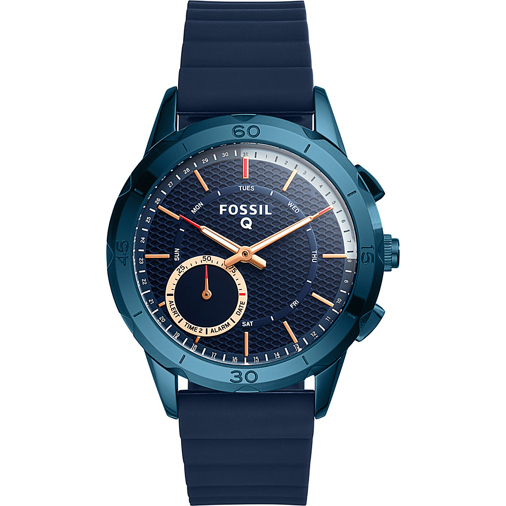 Fossil Q Modern Pursuit Silicone Hybrid Smartwatch Blue - Fossil Wearable Technology - Technology, Wearable Technology
