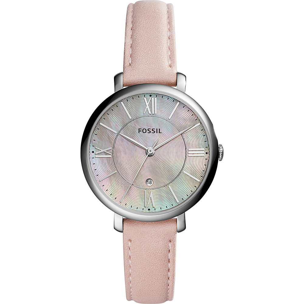 Fossil Jacqueline 3-Hand Leather Watch Pink(Red) - Fossil Watches - Fashion Accessories, Watches