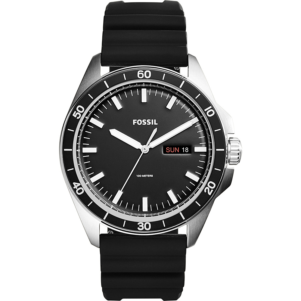 Fossil Sport 54 3-Hand Day-Date Watch Black - Fossil Watches - Fashion Accessories, Watches