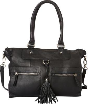 La Diva Bobbie Satchel Black - La Diva Leather Handbags
