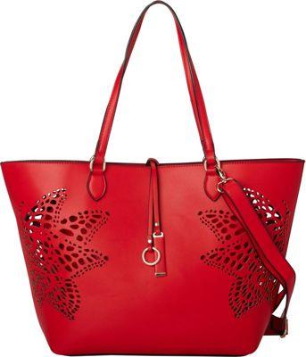 La Diva Nicole Tote Red - La Diva Manmade Handbags