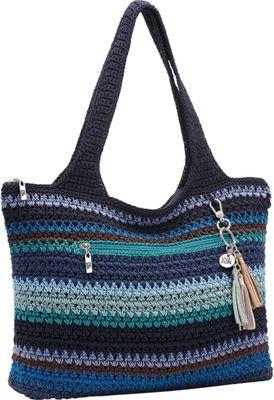 The Sak Casual Classics Large Tote Atlantis Stripe - The Sak Fabric Handbags