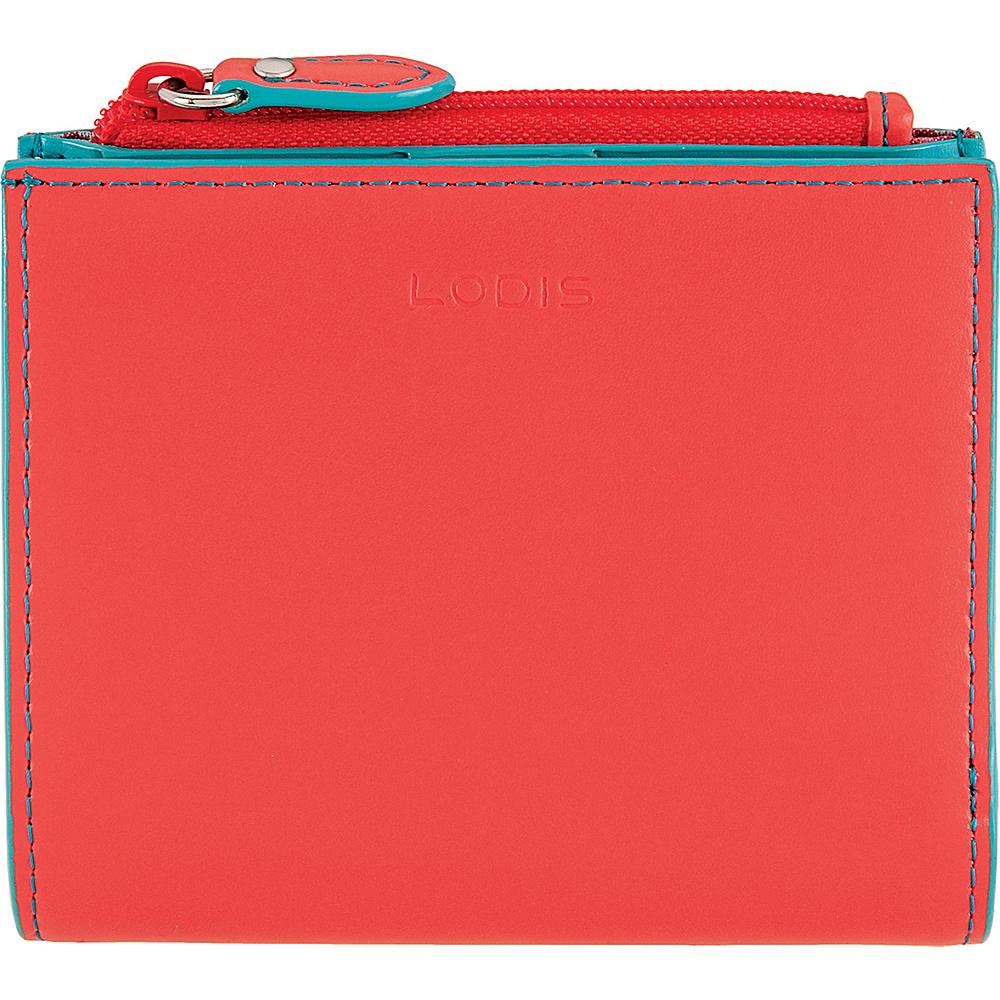 Lodis Audrey Aldis Wallet Coral/Turquoise - Lodis Womens Wallets - Women's SLG, Women's Wallets